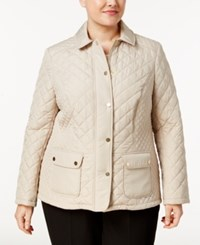 Charter Club Plus Size Quilted Coat Only At Macy's Sedona Dust