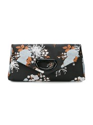 Dries Van Noten Floral Print Clutch Black