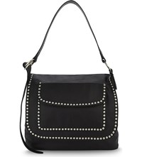 Dsquared2 Postman Studded Leather Shoulder Bag Nero