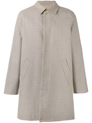 A.P.C. Checked Button Up Coat Nude Neutrals