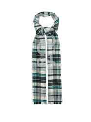 Acne Studios Victoria Checked Wool Scarf Green