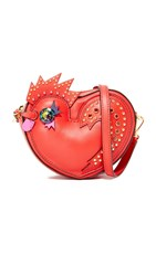 Mcm Rooster Heart Coin Case Ruby Red
