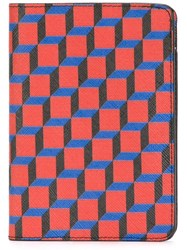 Pierre Hardy Geometric Print Wallet Red