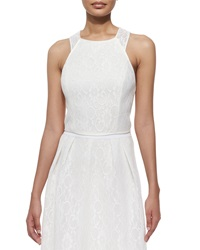 Phoebe Couture Sleeveless Lace Crisscross Back Top