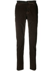 Transit Corduroy Straight Trousers Brown