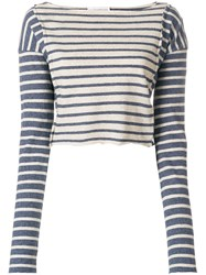 Faith Connexion Striped Top Nude And Neutrals