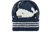Thom Browne Men's Whale Wool Mohair Beanie Navy White