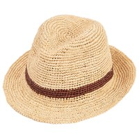 Christys' Straw Bude Trilby Hat Natural