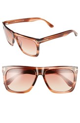 Tom Ford Women's Morgan 57Mm Flat Top Sunglasses Striped Burnt Brick Pink Striped Burnt Brick Pink