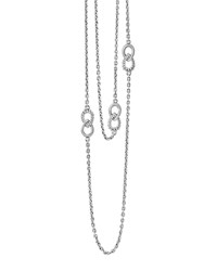 Lagos Silver Soiree Fluted And Caviar Station Necklace 32