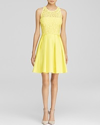 Karen Millen Bold Colorful Lace Panel Dress Bloomingdale's Exclusive Yellow