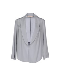 Bgn Suits And Jackets Blazers Women Light Grey