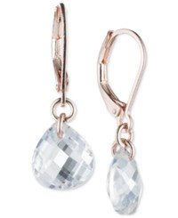 Lonna And Lilly Rose Gold Tone Teardrop Crystal Drop Earrings Pink
