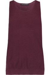 Marc By Marc Jacobs Crocheted Cotton Tank Burgundy