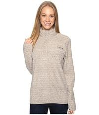 Columbia Mountain Side Printed Pullover Flint Grey Zigzag Women's Long Sleeve Pullover Gray