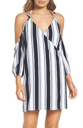 Ali And Jay Women's La Ciudad Dress Black Grey Stripe
