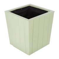 Iron And Clay Hardwood Tapered Planter Fresh Sage Green