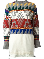 Sacai Aztec Pattern Sweater Multicolour