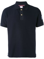 Moncler Gamme Bleu Arm Patch Polo Shirt Men Cotton L Blue