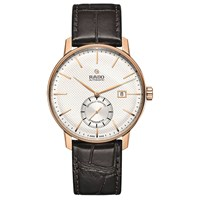 Rado R22881025 'S Coupole Classic Automatic Leather Strap Watch Brown White