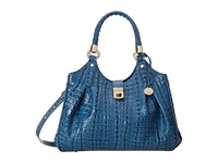 Brahmin Elisa Surf Satchel Handbags Blue