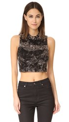 Cotton Citizen Monaco Crop Tank Black Dust