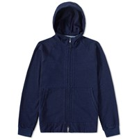 Blue Blue Japan Yarn Dyed Zip Sweat Blue