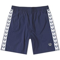 Fred Perry Taped Swim Short Blue