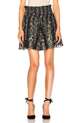 Needle And Thread Floral Stripe Skirt In Black Floral Black Floral