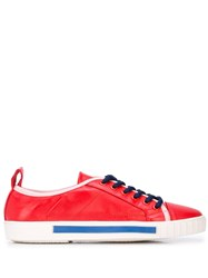 Carven Lace Up Sneakers Red