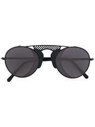 L.G.R Albatros Sunglasses Men Metal One Size Black