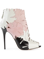 Alexander Mcqueen Lotus Flower Applique Booties