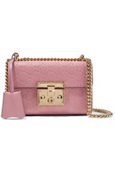 Gucci Padlock Small Embossed Leather Shoulder Bag Antique Rose