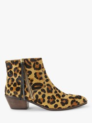 And Or Paquita Flat Heel Ankle Boots Leopard