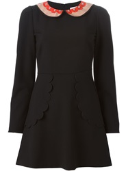 Red Valentino Peter Pan Collar Dress Black