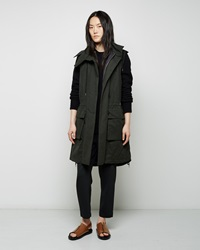 Marni Wax Coated Poplin Parka Vest