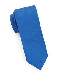 Hugo Pin Dot Silk Tie Royal Blue