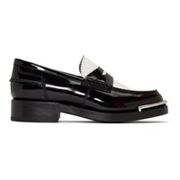 Alexander Wang Black And White Carter Loafers
