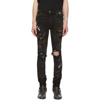 Amiri Black Painted Art Patch Jeans Ablagedblac