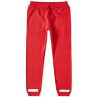 Off White Brushed Diagonals Sweat Pant Red