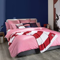 Tommy Hilfiger Chambray Duvet Cover Pink