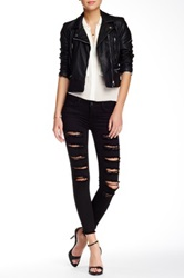 Just Usa Destroyed Ankle Skinny Jean Black