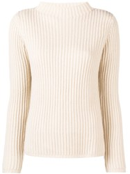 Allude Long Sleeved Top Nude And Neutrals