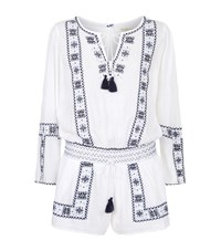 Denim And Supply Ralph Lauren Embroidered Peasant Playsuit Female Multi