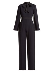 Goat Gypsy Wool Crepe Jumpsuit Navy
