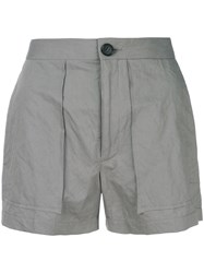 Chalayan Classic Fitted Shorts Grey