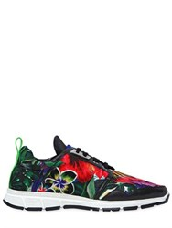 Dsquared 20Mm Floral Printed Neoprene Sneakers
