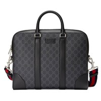 Gucci Gg Supreme Briefcase Beige Ebony