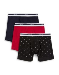 Nautica Three Pack Stretch Boxer Briefs Nautica Red