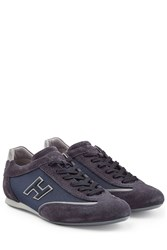 Hogan Suede And Mesh Sneakers Blue